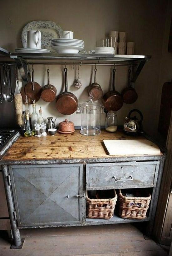 Keuken met vintage look wooninspiratie - Vintage keukens ...