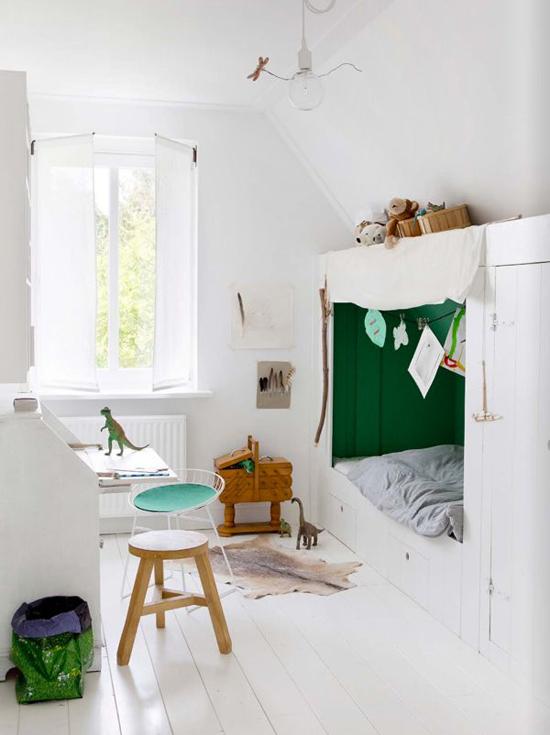 Muurstickers babykamer boom for - Stapelbed kleine kamer ...