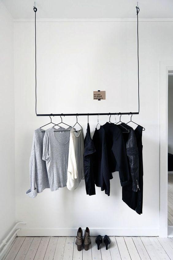 Slaapkamer ideeën kledingrek