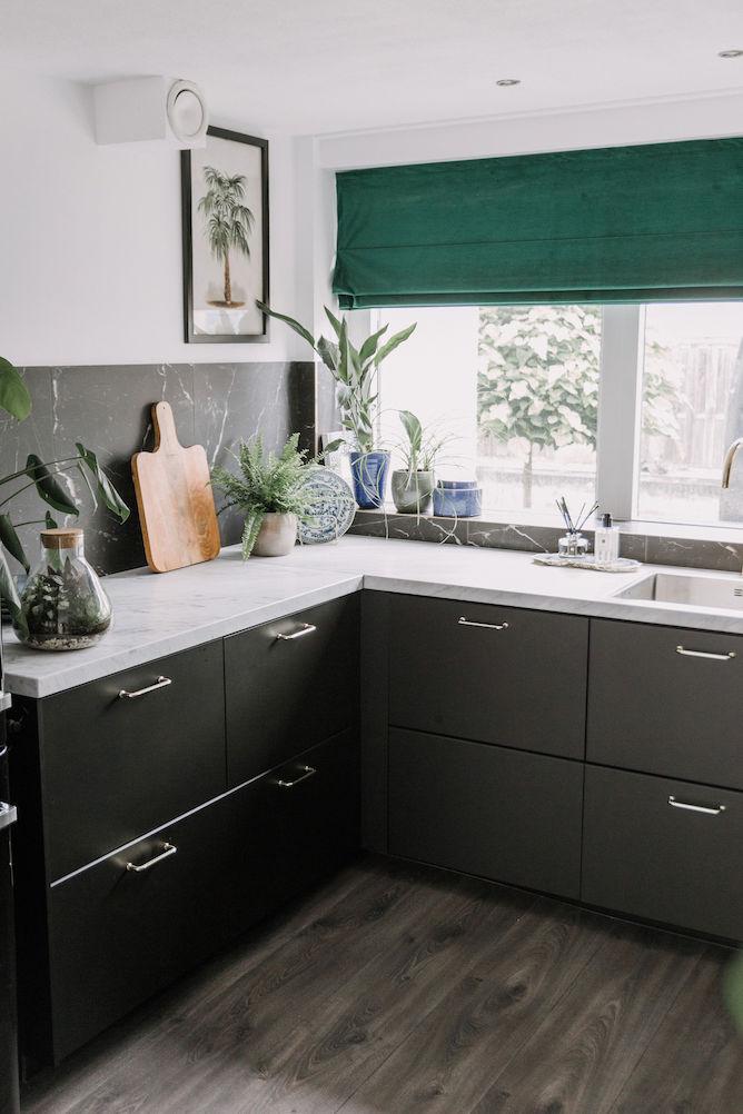 30 x Ikea keuken - Zwarte Ikea KUNGSBACKA keuken