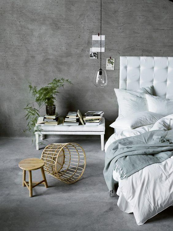 Slaapkamer ideeën betonstuc