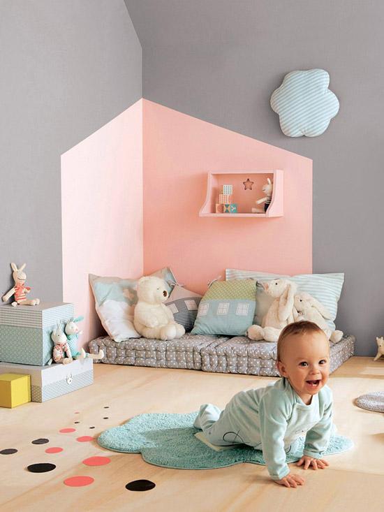 5 originele manieren om de kinderkamer te verven wooninspiratie - Trend volwassen kamer kleur ...