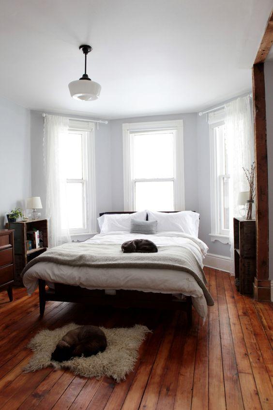 Slaapkamer ideeën houten vloer