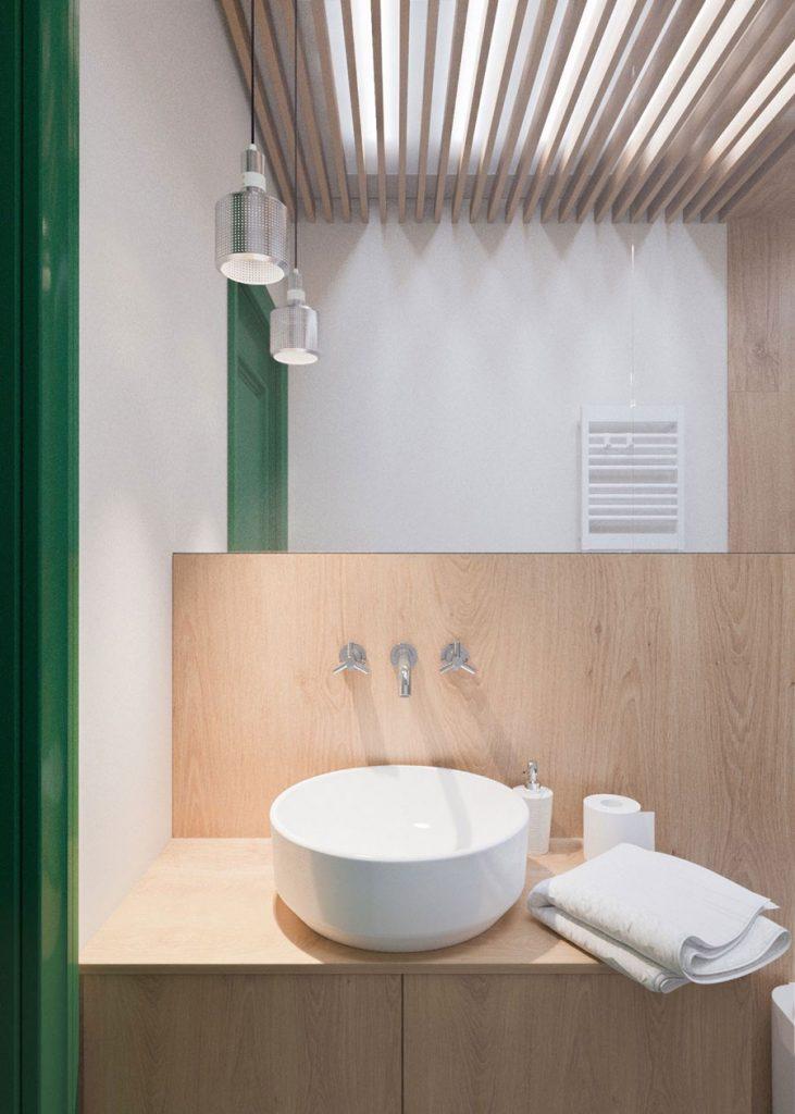 Badkamer ideeën plafond houten balken