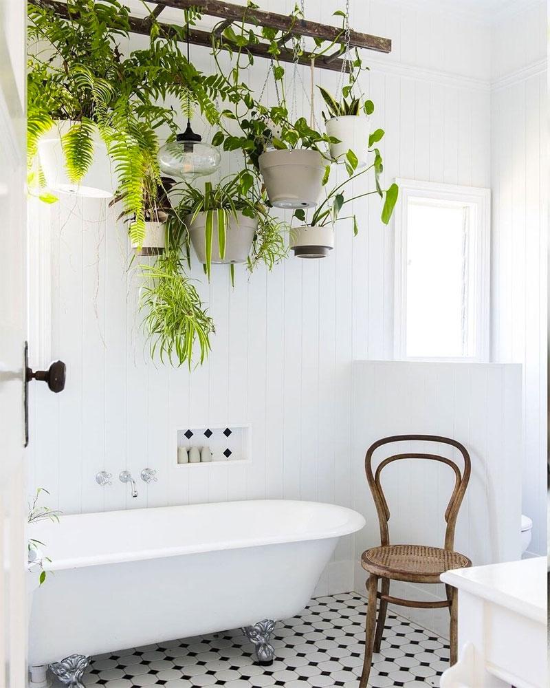 Badkamer ideeën planten