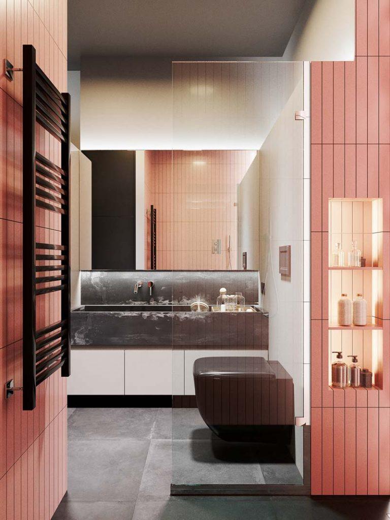 Badkamer ideeën roze