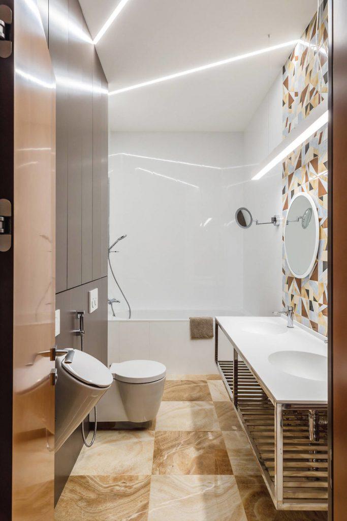 Badkamer ideeën verlichting buizen