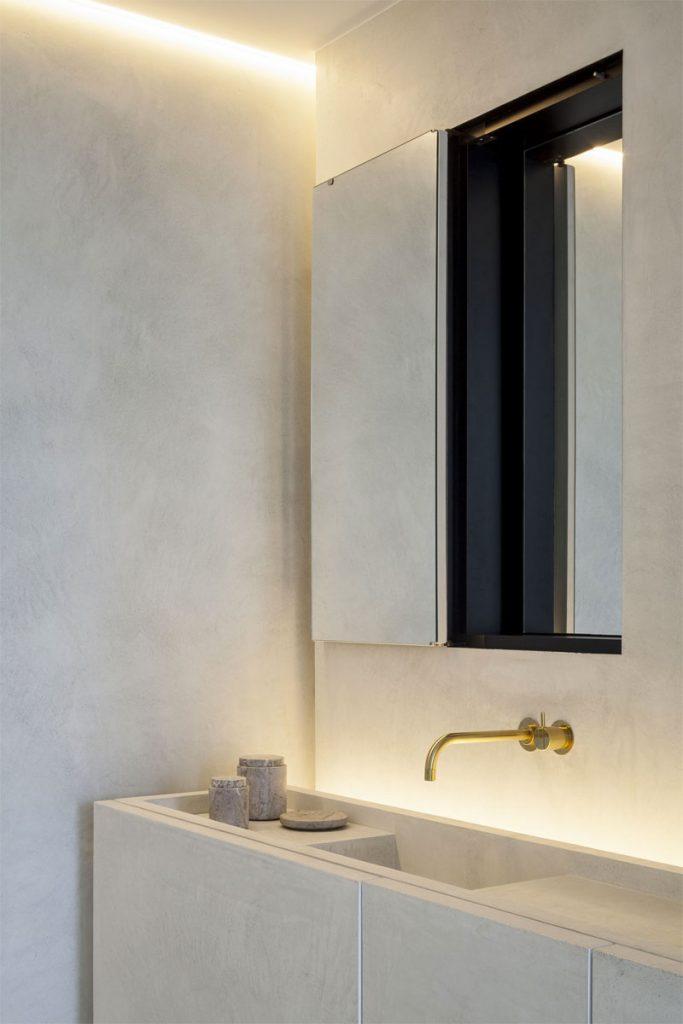 Badkamer ideeën verlichting minimalistisch