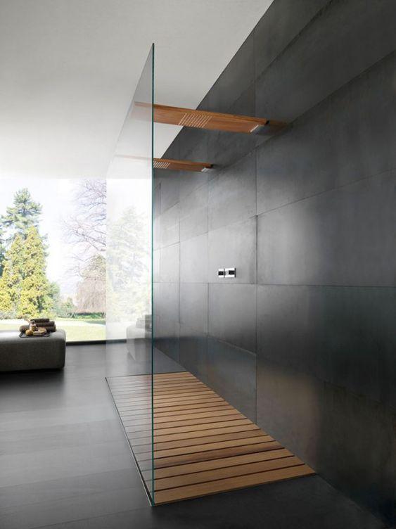 Badkamers met voorbeelden doorloopdouche