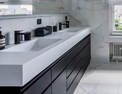 Badkamers met voorbeelden dubbele wastafel