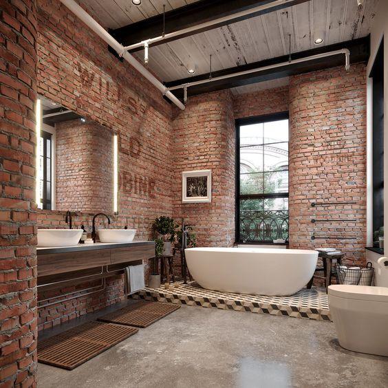 Badkamers met voorbeelden industriele badkamer