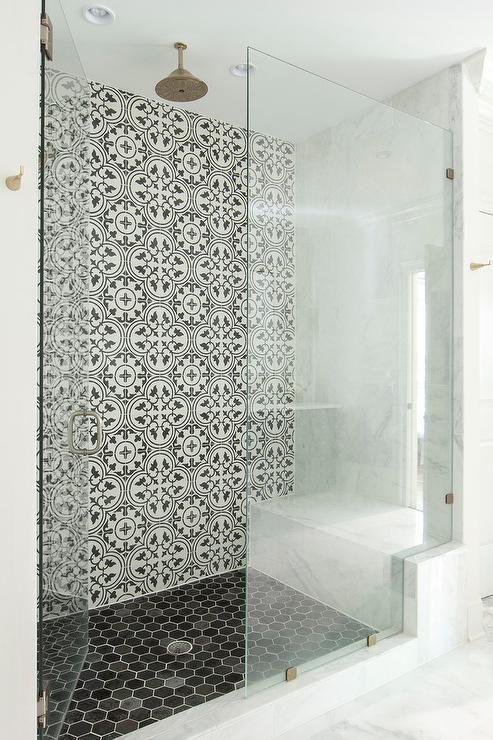 Badkamers met voorbeelden inloopdouche met deur