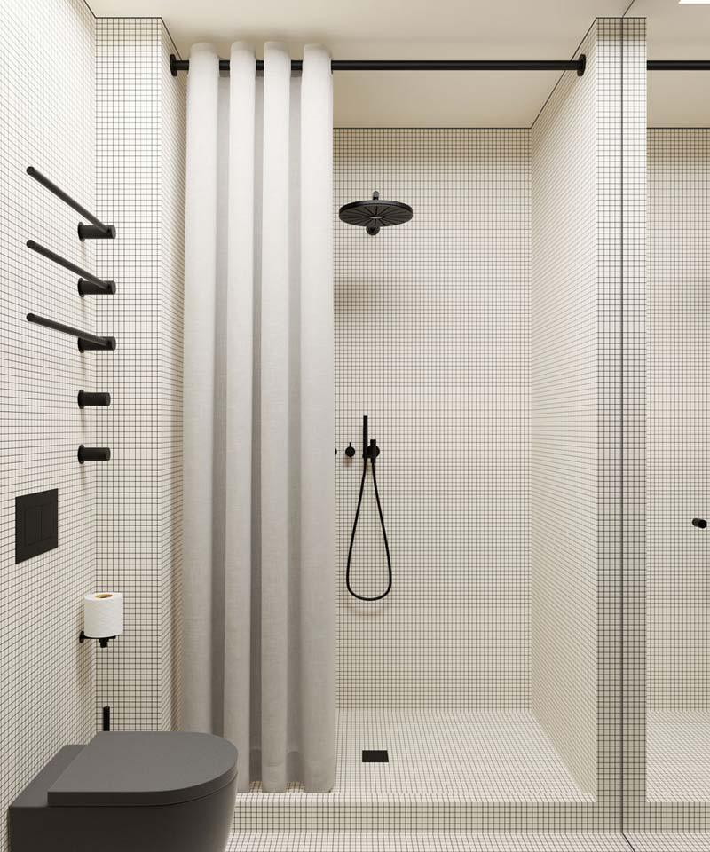 Badkamers met voorbeelden klein zwart wit