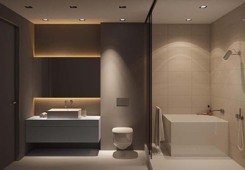 Badkamers met voorbeelden luxe en warm