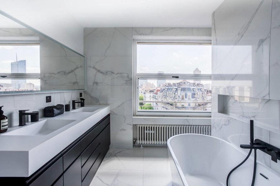 Badkamers met voorbeelden marmer