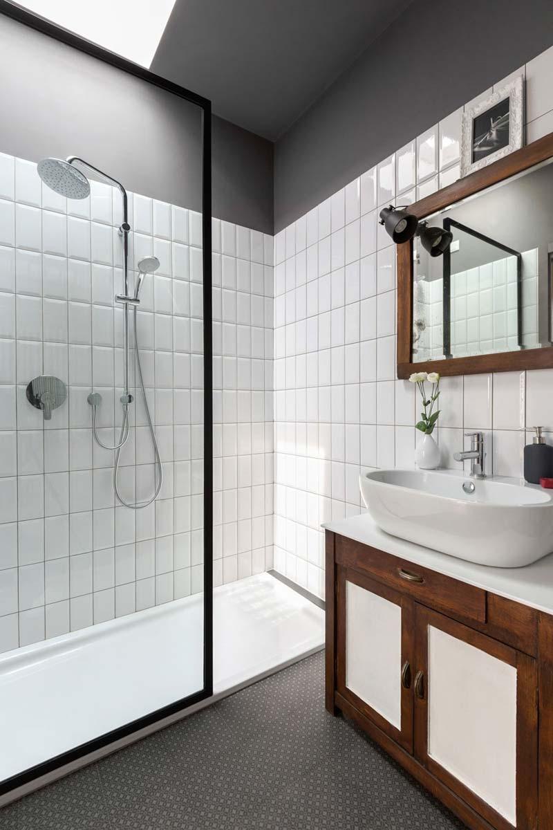 Badkamers met voorbeelden modern vintage
