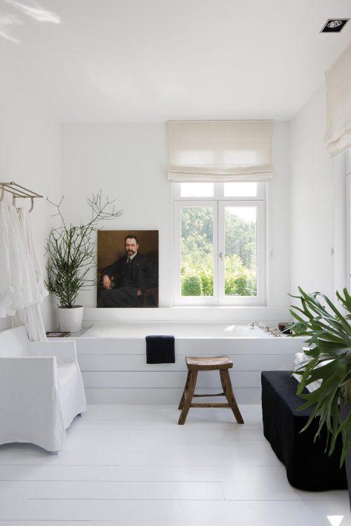 Badkamers met voorbeelden planten