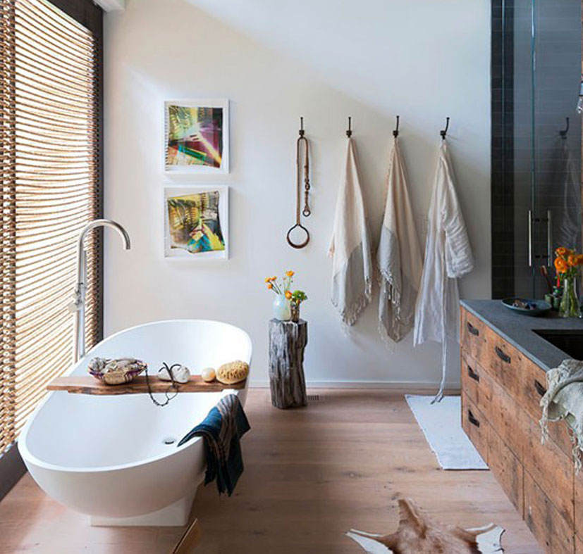 Badkamers met voorbeelden rustieke badkamer