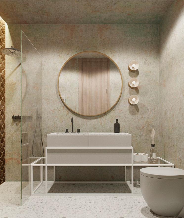 Badkamers met voorbeelden spiegel