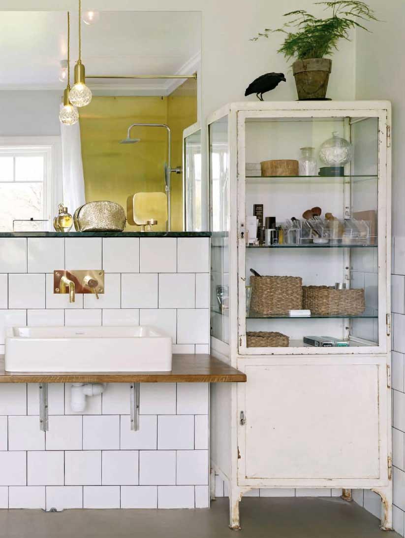 Badkamers met voorbeelden vintage badkamer