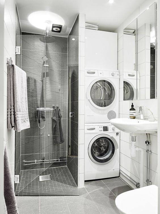 Badkamers met voorbeelden wasmachine