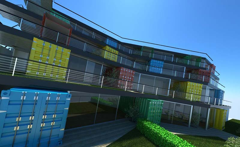 Containerwoningen Container apparatementen