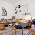 Een Deense woonkamer