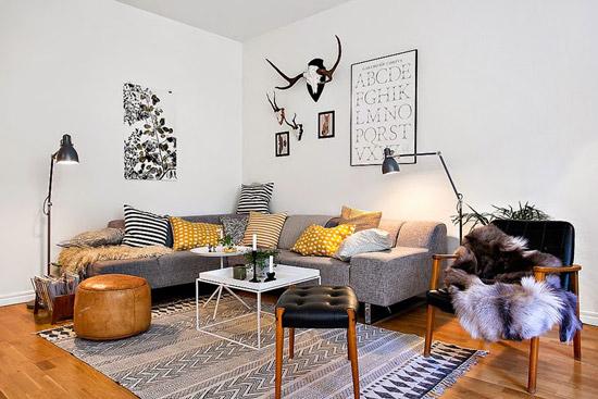 Een deense woonkamer wooninspiratie for Vintage woonkamer