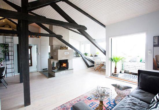 Een mooie Loft woonkamer