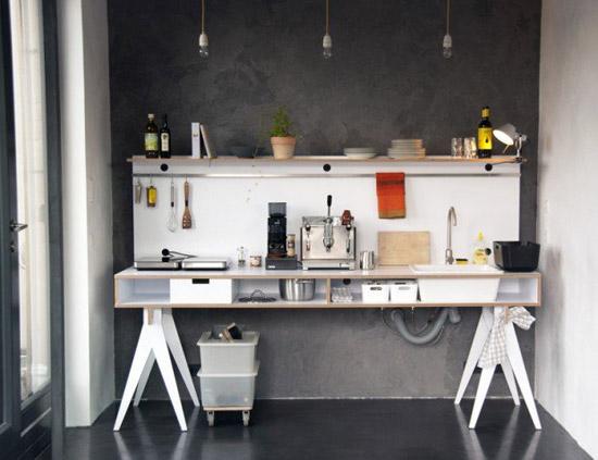 8x Minimalistische Werkplek : Een verplaatsbare keuken! wooninspiratie