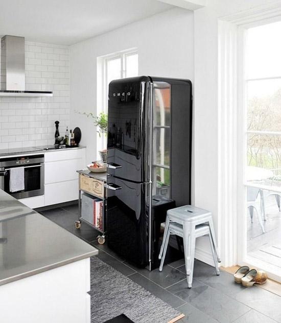 Welke keuken vinden jullie het mooist met een zwarte Smeg koelkast?