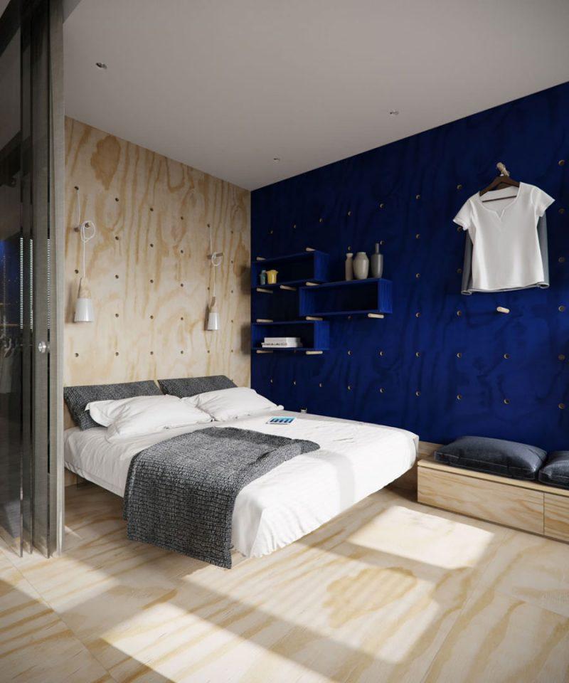 Blauwe muurverf Duller & Co Ultramarijn