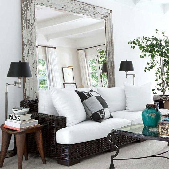 Grote spiegel idee n wooninspiratie - Designer woonkamer spiegel ...