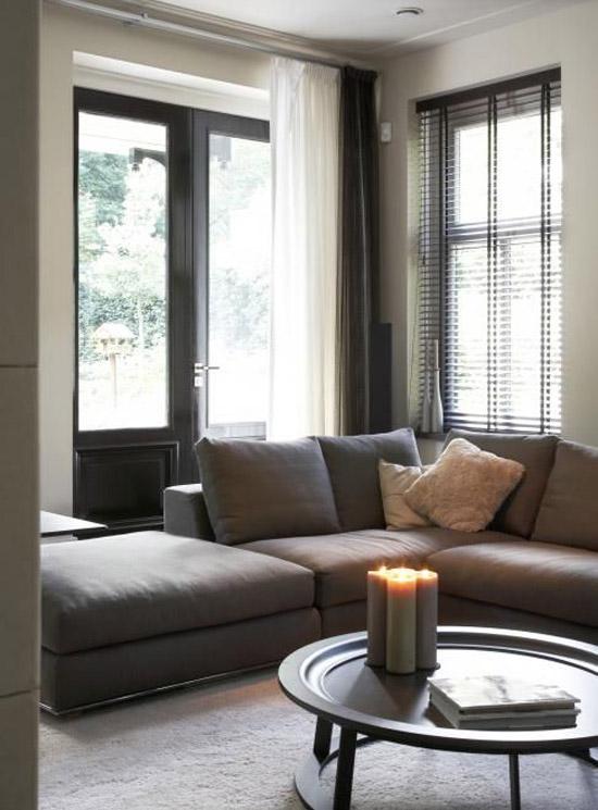 Hoekbank voor de woonkamer wooninspiratie for Taupe woonkamer