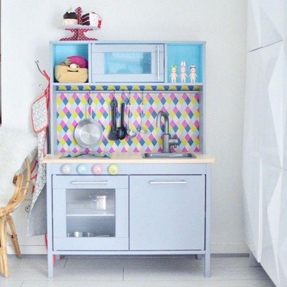ikea duktig speelgoedkeuken hacks behang