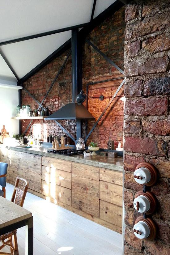 Industriele keuken wooninspiratie - Keuken industriele loft ...