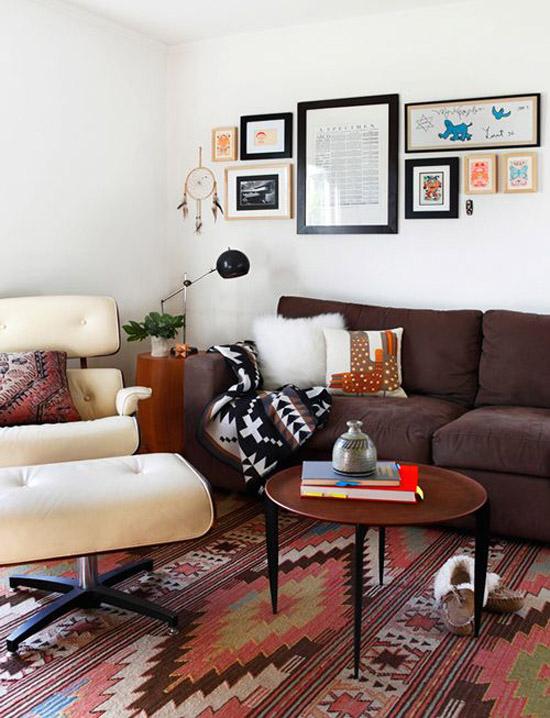 Kelim vloerkleed in huis wooninspiratie - Ways decorating using kilim print ...