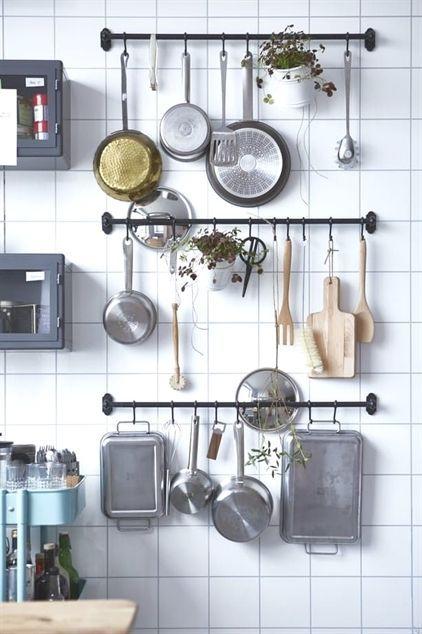 Keuken ideeën ophangen