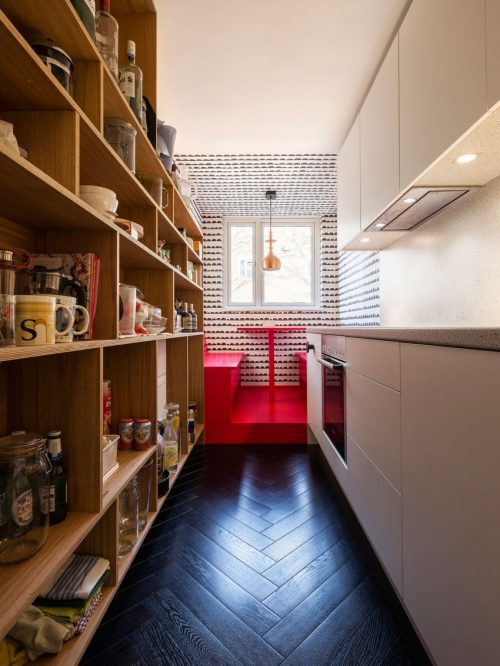 Keuken ideeën smalle keuken zithoek