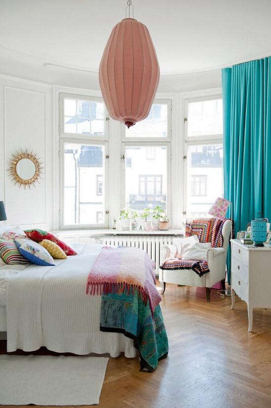 Kleurrijke slaapkamer  Wooninspiratie