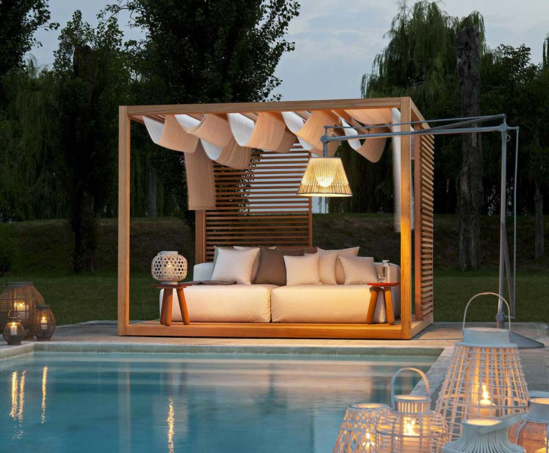 Luxe cabana bed