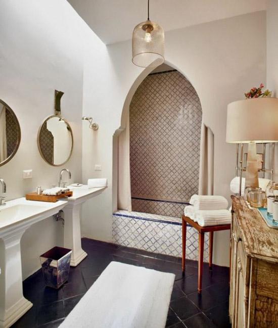 Mooie marokkaanse badkamers wooninspiratie for Marrakech bathroom design