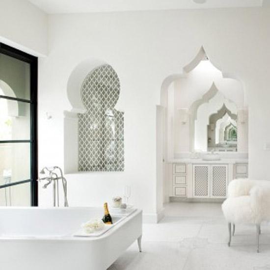 Mooie marokkaanse badkamers wooninspiratie - Mooie eigentijdse badkamer ...