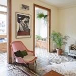 Mozaïekvloer door het hele appartement in Barcelona