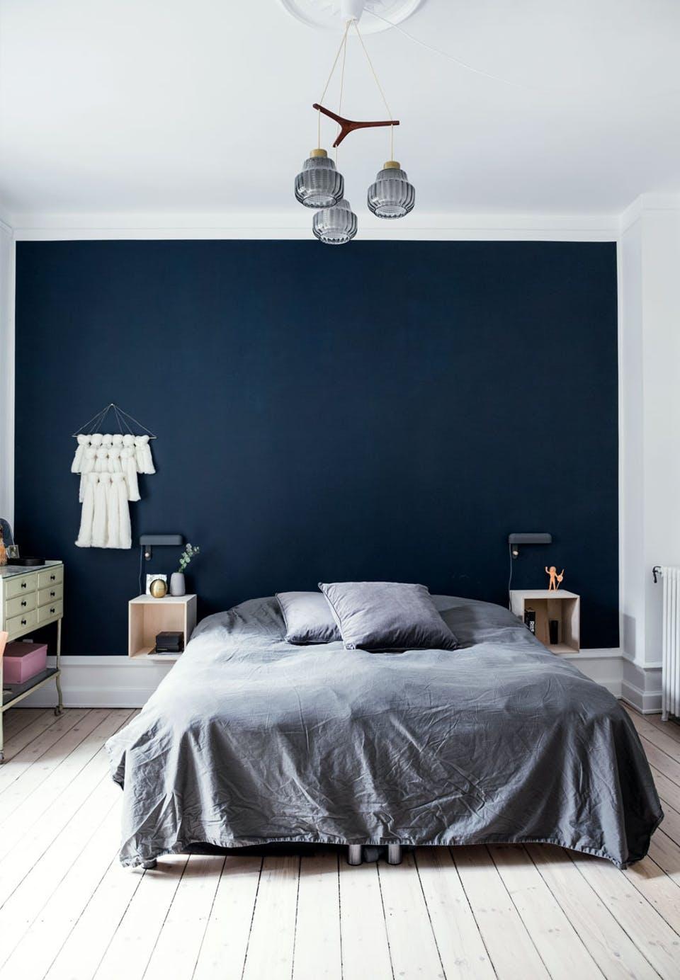 Blauwe muurverf Nachtblauw Histor