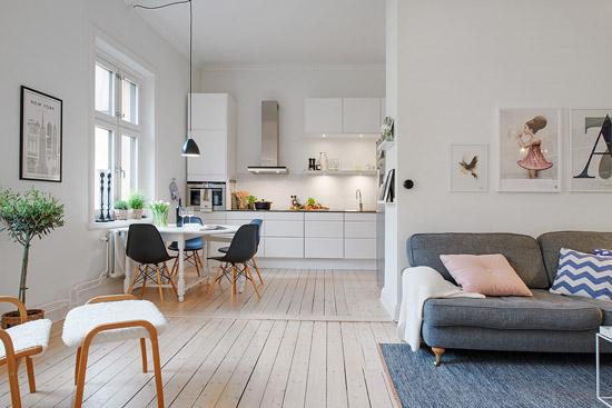 Kleine Slaapkamer Delen : Een mooi Scandinavisch woonkamer ...