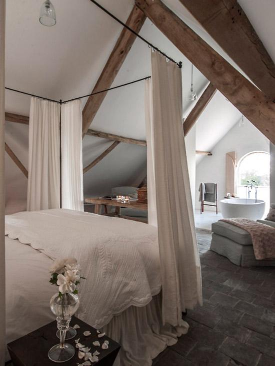 Slaapkamer met romantische sfeer  Wooninspiratie