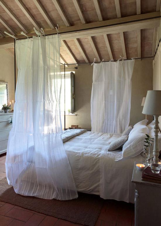 Slaapkamers Fotos : Fotos romantische slaapkamer met klamboe
