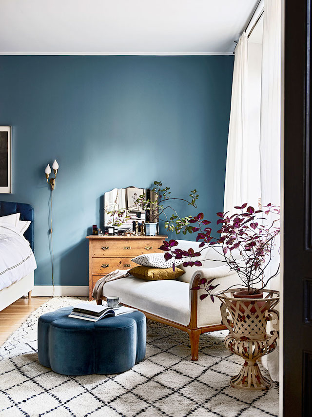 Blauwe muurverf Stone blue Farrow & Ball