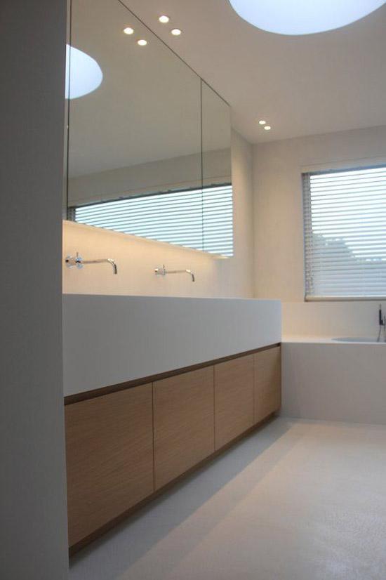 Badkamer wanden interieur meubilair idee n - Keramische inrichting badkamer ...